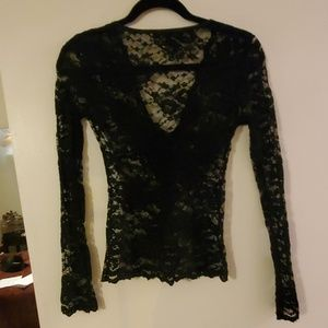 Karen Kane Tops - Lace long sleeve top